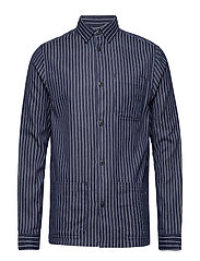 Robert Worker Shirt - BLUE/WHITE STRIPE