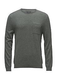 Jeff Crewneck Sweater - BALSAM GREEN