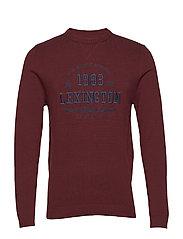 Nelson Knitted Sweatshirt - BURGUNDY WINE