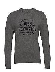 Nelson Knitted Sweatshirt - DARK GRAY MELANGE