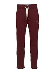 Brandon Jersey Pants - BURGUNDY WINE