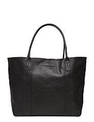 Mayflower Leather Tote Bag - CAVIAR BLACK