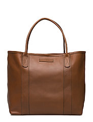 Mayflower Leather Tote Bag - LIGHT COGNAC