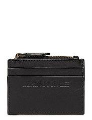 Cove Leather Card Holder - CAVIAR BLACK