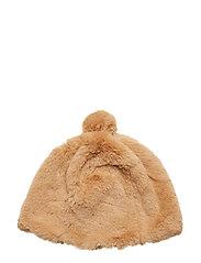 Colette Faux Fur Beanie - CAMEL