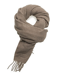 Aurora Wool Scarf - BROWN MELANGE