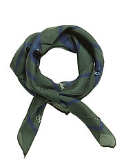 Gardiners Bay Flower Silk Scarf - BLUE FLOWER PRINT