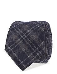 Glendale Wool Tie - BLUE/GRAY CHECK