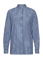 Edith Poplin Shirt - MEDIUM BLUE/WHITE STRIPE