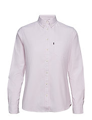 Sarah Oxford Shirt - PINK/WHITE STRIPE