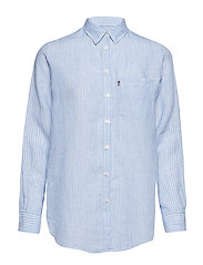 Isa Linen Shirt - LT BLUE/WHITE STRIPE