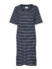 Blossom Dress - BLUE/WHITE STRIPE