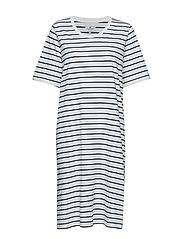 Blossom Dress - WHITE/BLUE STRIPE