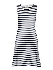 Gemma Jersey Dress - BLUE/WHITE STRIPE