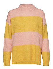 Talula Sweater - PINK/YELLOW STRIPE