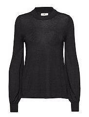 Sadie Cotton Bamboo Sweater - CAVIAR BLACK