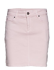 Alexa Pink Denim Skirt - PINK DENIM