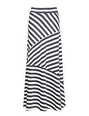 Joelle Jersey Skirt - BLUE/WHITE STRIPE
