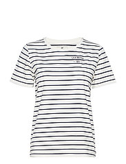 Rachel Tee - BLUE/WHITE STRIPE