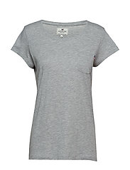 Ashley Jersey Tee - LT WARM GRAY MELANGE
