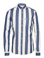 Clive Twill Shirt - BLUE/WHITE STRIPE