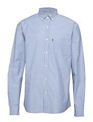 Taylor Poplin Shirt - BLUE/WHITE STRIPE