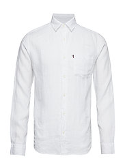 Ryan Linen Shirt - BRIGHT WHITE