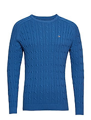 Andrew Cotton Cable Sweater - TRUE BLUE