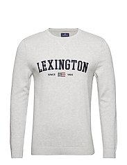 Nelson Knitted Sweatshirt - LT WARM GRAY MELANGE