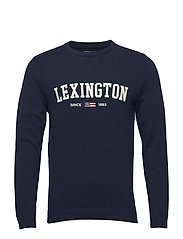 Nelson Knitted Sweatshirt - NAVY BLUE