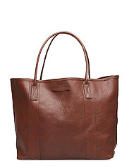 Mayflower Leather Tote Bag - COGNAC
