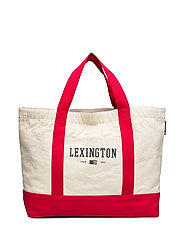 Pacific Tote Bag - WHITE/RED