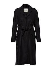 Heather Coat - BLACK