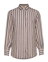 Isolde Lyocell Shirt - BEIGE MULTI STRIPE