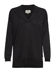Ana V-neck Sweater - BLACK