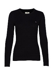 Felizia Cable Sweater - BLACK