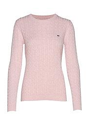 Felizia Cable Sweater - PINK MELANGE