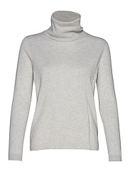 Francoise Roll Neck Sweater - LIGHT GREY MELANGE