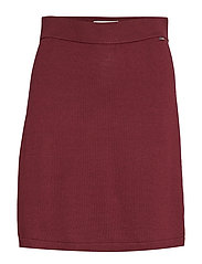 Chastity Knitted Skirt - DARK RED