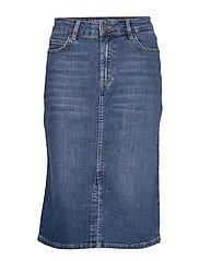 Millie Denim Skirt - MEDIUM BLUE DENIM