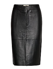 Millie Leather Skirt - BLACK
