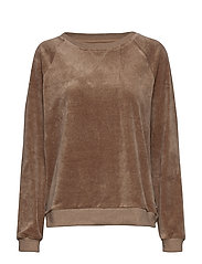 Martha Velour Sweatshirt - BEIGE MELANGE