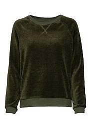 Martha Velour Sweatshirt - GREEN