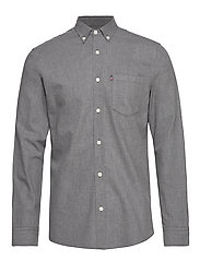 Peter Lt Flannel Shirt - GRAY MELANGE