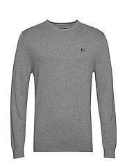Bradley Crew Neck Sweater - GRAY MELANGE
