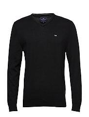 Allen V-Neck Sweater - BLACK