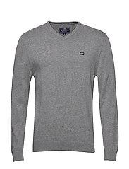 Allen V-Neck Sweater - GRAY MELANGE