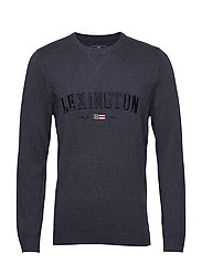 Nelson Knitted Sweatshirt - BLUE MELANGE