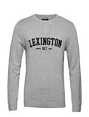 Nelson Knitted Sweatshirt - GRAY MELANGE