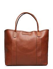 Mayflower Leather Tote Bag - LIGHT COGNAC
